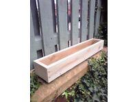 ****NEW FLOWER PLANTERS/WINDOW BOX, treated wood, many sizes/colours. quality handmade***