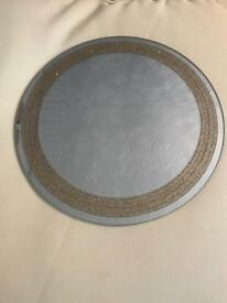 13x gold glitter mirrored plates