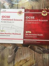 GCSE combined science revision book and exam practice book
