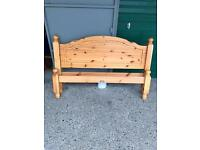 Pine Double Bed ~ Going Cheap £50