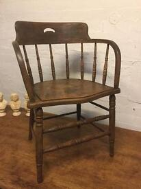 Antique Pine Captains Chair