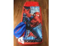 Spider-Man ready bed with bag