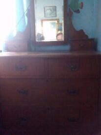 Old dresser with mirror.