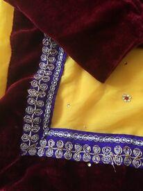 Unworn yellow saree