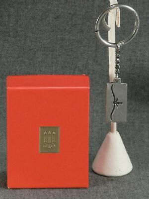 JAMES AVERY STERLING SILVER LONGHORN KEY RING UT LONGHORNS TEXAS RETIRED Sterling Silver Longhorn Key Ring