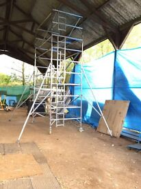 Boss Youngman Evolution Double Alumnium scaffold tower 6.2M WH X 1.8M