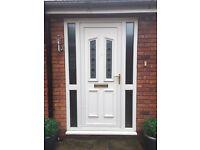 UPVC door and side panels