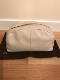Brand new large Molton Brown cream leather toiletries/wash bag.