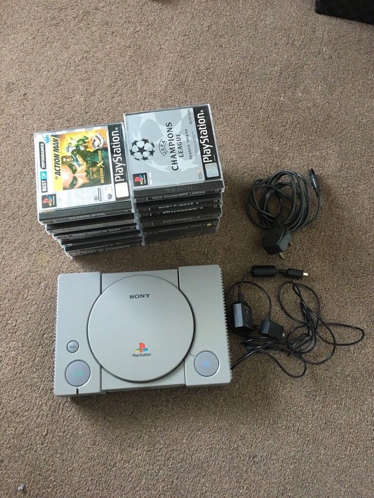 PlayStation1 with 20 games