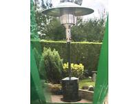 Patio heater & Full large gas bottle.