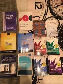 Law books (contract, criminal, public, legal foundations)