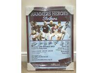 West Ham Hammers Heroes Strikers Tony Gale Framed Poster