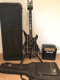 Schecter Synyster Custom - with Hard & Soft case, Marshall amp and guitar stand