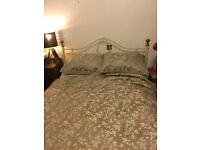 Cream French antique style double bed