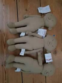 3 x story sack dolls