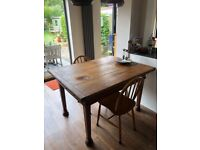 Vintage extending dining table
