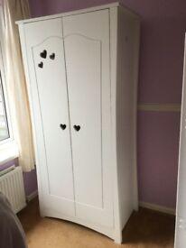 Beautiful white hearts wardrobe