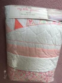 Mothercare My little garden quilt for cot/cot bed
