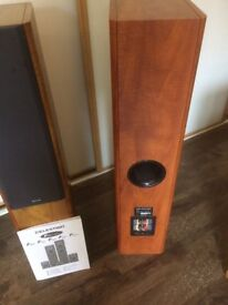 celestion 3 way bass speakers pair and matching centre speaker