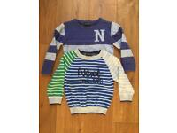 Next Boys Jumpers Age 12-18 mths x2