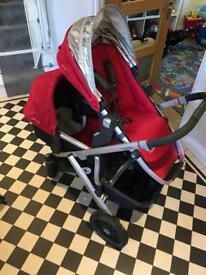 Uppababy double buggy with isofix maxi cosi car seat