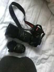 Pentax k-30 with two lense 18-55 pentax +70-300 sigma