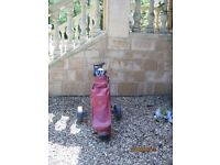 Golf clubs and trolley good condition