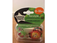 NEW !! Tommee Tippee Closer to Nature Fun Style Soothers 6-18mths (2)