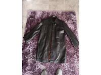 f6bd787e56 Black Kurt Muller knee length leather jacket BRAND NEW unwanted gift cost  £500 Smoke+
