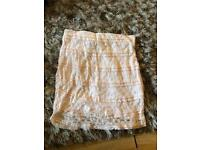 Size 8 H & M light pink skirt