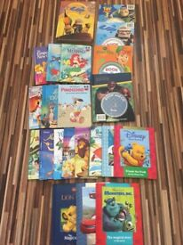 x22 Kids Disney Books, some wiith CD, Excellent condition, Cars, Mermaid, Up, Toy story etc