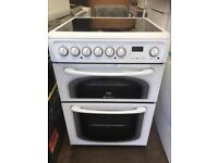Hotpoint White double ceramic electric cooker free delivery