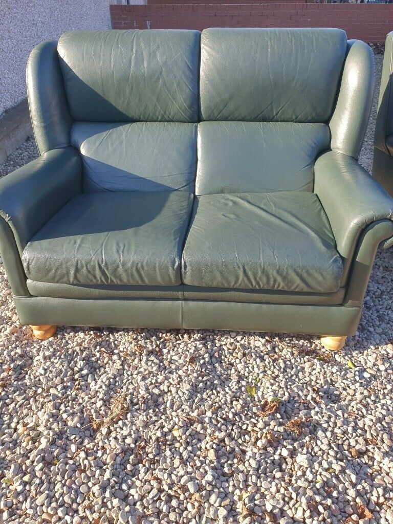 2 Leather Sofas In Very Good Condition
