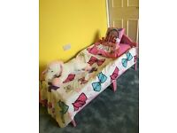 Minnie Mouse Bed & 2 Mattresses (washed)