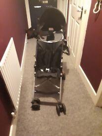Basic black stroller