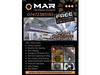 Restaurant Kitchen commercial extractor fan and canopy duct ducting cleaning Fan Repair 24/7