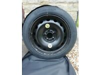 Space saver spare wheel for BMW X3