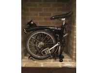 Brompton M3L Folding Bike in black