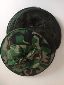 4 x Insect net camouflage mosquito midges Hat