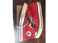 Red Converse AllStar size 10 1/2