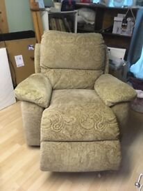 Electric Recliner. moderate condition.