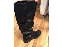 Womens Leather Boots (size 5.5 uk)