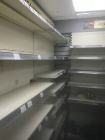 Clearance of shop shelving, fridges and ice cream fridge