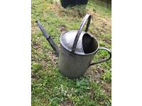 Vintage Galvanised Watering Can for Garden