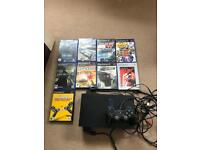 Ps2 with 9 games leads and 1 controller