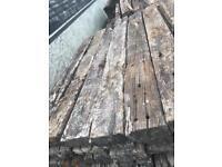 Hardwood Reclaimed Sleepers