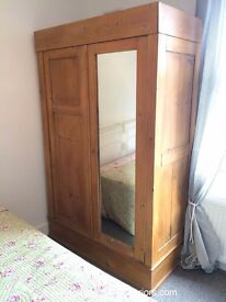 ANTIQUE VICTORIAN PINE COLLAPSABLE WARDROBE