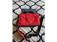 LOGIK RED LAPTOP BAG. FITS SMALL LAPTOP. FROM CURRYS