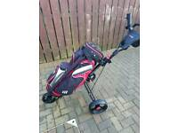 Masters 5 series 3 wheel golf trolley with cart bag