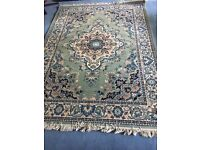 Rug - unused short pile light/mint green 165 x 231cm